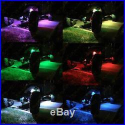 12X Pod RGB LED Rock Light Waterproof Wireless Remote Off-Road Under Wheel Lamp