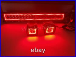 22 LED Light Bar + 2x 3 Spot Pods with RGB HALO Ring Chasing Wireless Bluetooth