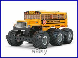 47376 Tamiya RC Kit King Yellow 6x6 Monster Truck Painted School Bus G6-01 Boxed