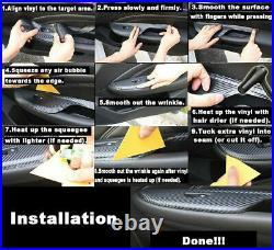 5D Reflective Carbon Fiber Car Trim Interior Decal For BMW 320i 325i 328i E90