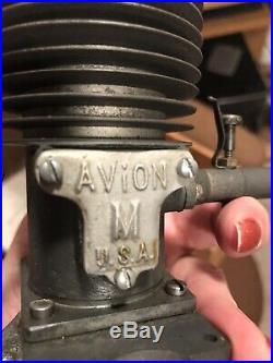 Avion Mercury Model Engine #1270 In Wood Box