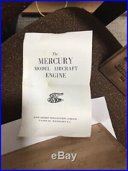 Avion Mercury Model Engine In Wood Box
