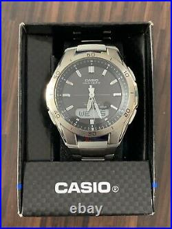 CASIO Waveceptor Radio Controlled Mens Solar Titanium Watch (WVA-M640TD-1AER)