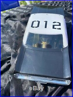 COX ADAM 12 MATADOR POLICE PATROL CAR, with BOX- ORIGINAL, NEAR COMPLETE (1974)