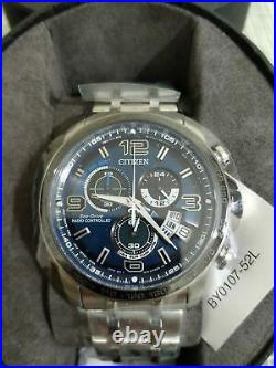 Citizen Eco-Drive Radio Controlled BY0107-52L Chronograph Blue Dial Men's Watch