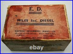 ED Miles 5cc vintage diesel model aircraft engine in box
