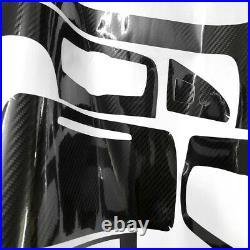 For BMW 320i 325i 328i E90 Interior Decal 5D Reflective Carbon Fiber Car Trim 5D