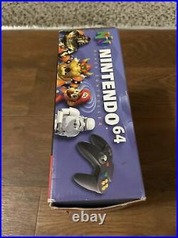 Genuine Original OEM Nintendo 64 N64 Black Controller CIB Complete in Box Rare