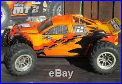 HPI RC Car MT-2 RTR Truck Orange Nitro R/C + Roto-Start 2 + Box / Used / Running