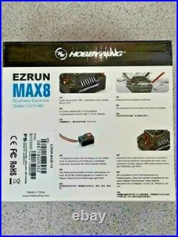 Hobbywing EZRun Max8 V3 Waterproof Brushless ESC withProgram Box & XT90 Plug New