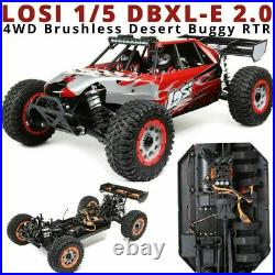Losi 1/5 DBXL-E 2.0 4WD Brushless RTR Red Truck with Smart LOS05020T2 New in Box