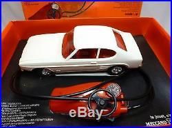Meccano Triang Ford Capri Battery Radio Control White 118 Rare- Good In Box