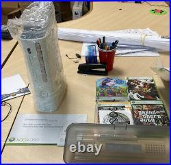 Microsoft Xbox 360 Pro 20GB Console + 2 Controllers, Original Box, Cables, Games