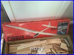 NOS Vintage Rare R/C Model Sailplane Plane Graupner Cirrus 4229 In Box 1969