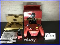 Nintendo Official GameCube controller Char Wave Bird Wireless Boxed