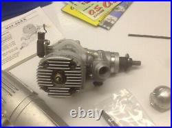 O. S. MAX 46 AX ABC RC Engine with P. BOX Silencer Muffler