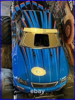 RARE Vintage HPI Nitro Monster King RTR 110 RC Truck Mint W Box Never Ran Blue