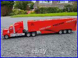 Red American Large Truck Lorry 49cm Length Remote Control Car Damaged Boxed