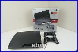 Sony Playstation 3 Slim PS3 CECH-2501B 2 Controllers Original Box