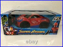 Spiderman Radio Remote Control Car Fast Speed Led Lights Boxed Uk Stock