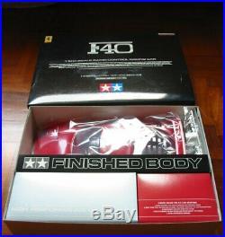 TAMIYA 58356 1/10 scale FERRARI F40 New In Box RARE FINISHED BODY by TAMIYA