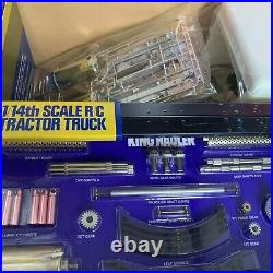 Tamiya Truck KING HAULER 56301 1/14 RC TRACTOR Outer box is faded/Complete item