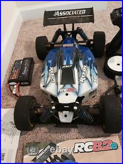 Team Associated RC8.2e 1/8 Buggy RTR Bundle with Box and a Lots of Extras! FUN
