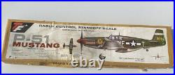 Top Flite P-51 Mustang Airplane UNBUILT In Box 37 Wingspan Balsa Wood Model