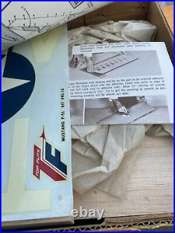 Top Flite P-51 Mustang RC Airplane Kit Unbuilt Boxed # RC-16 New Open Box
