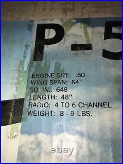 Vintage 1981 Sig Kwik-Bilt P-51 Mustang RC KIT NO. KBRC-6 New In Open Box