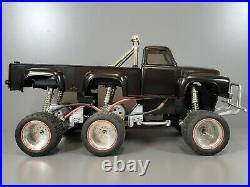 Vintage 1987 Custom Made Tamiya 1/12 Midnight Pumpkin with Dual Rear Axle not run