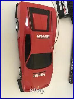 Vintage 1987 Nikko RC Ferrari Testarossa withBox Tested & Working, Remote Control