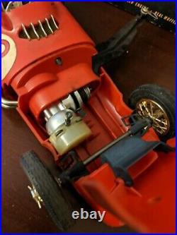 Vintage COX Thimble Drome Gas Powered MERCEDES BENZ W 196 RACER Tether Car w box