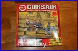 Vintage Cox Corsair F4U Never Flown or Fueled, BOX, Accessories, Nice