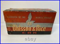 Vintage Hard to Find Ohlsson & Rice tether Car BOX