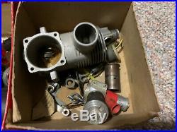 Vintage Model Airplane Engine Lot Parts Motors Propellers K&B Original Box Webra