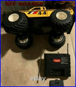 Vintage Radio Shack RC Remote Control 4x4 Truck Off-Roader 60-4057A Yellow withBox