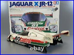 Vintage Rare 1/10 R/C Tamiya Jaguar XJR-12 Daytona Winner with Motor Servo & Box