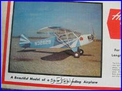 Vintage Sig balsa airplane kit RC-26 unassembled in box Clipped Wing Cub