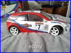 Vintage Tamiya Tl01 Ford Focus Wrc Used Once with original box and instructions