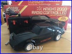 Vtg 1982 Kenner Radio Control RC Knight Rider 2000 KITT Car Complete with Box