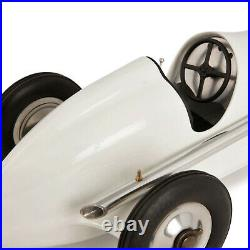 White Indianapolis Spindizzy Aluminum Model Tether Car Replica 12 Gift Boxed